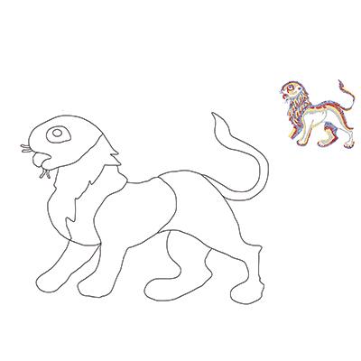 Mosaico Leão
